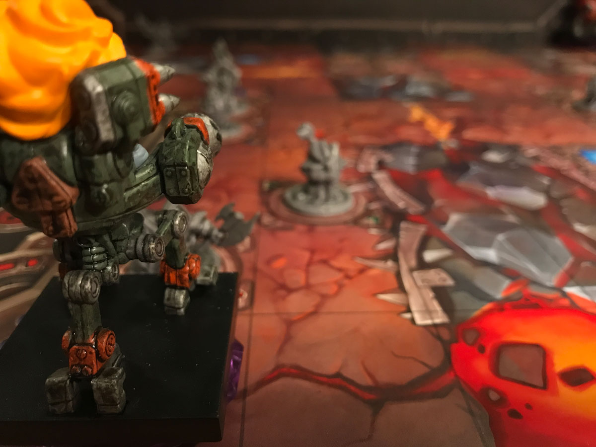 Far Across the Lava-Stained World of Mechs vs. Minions