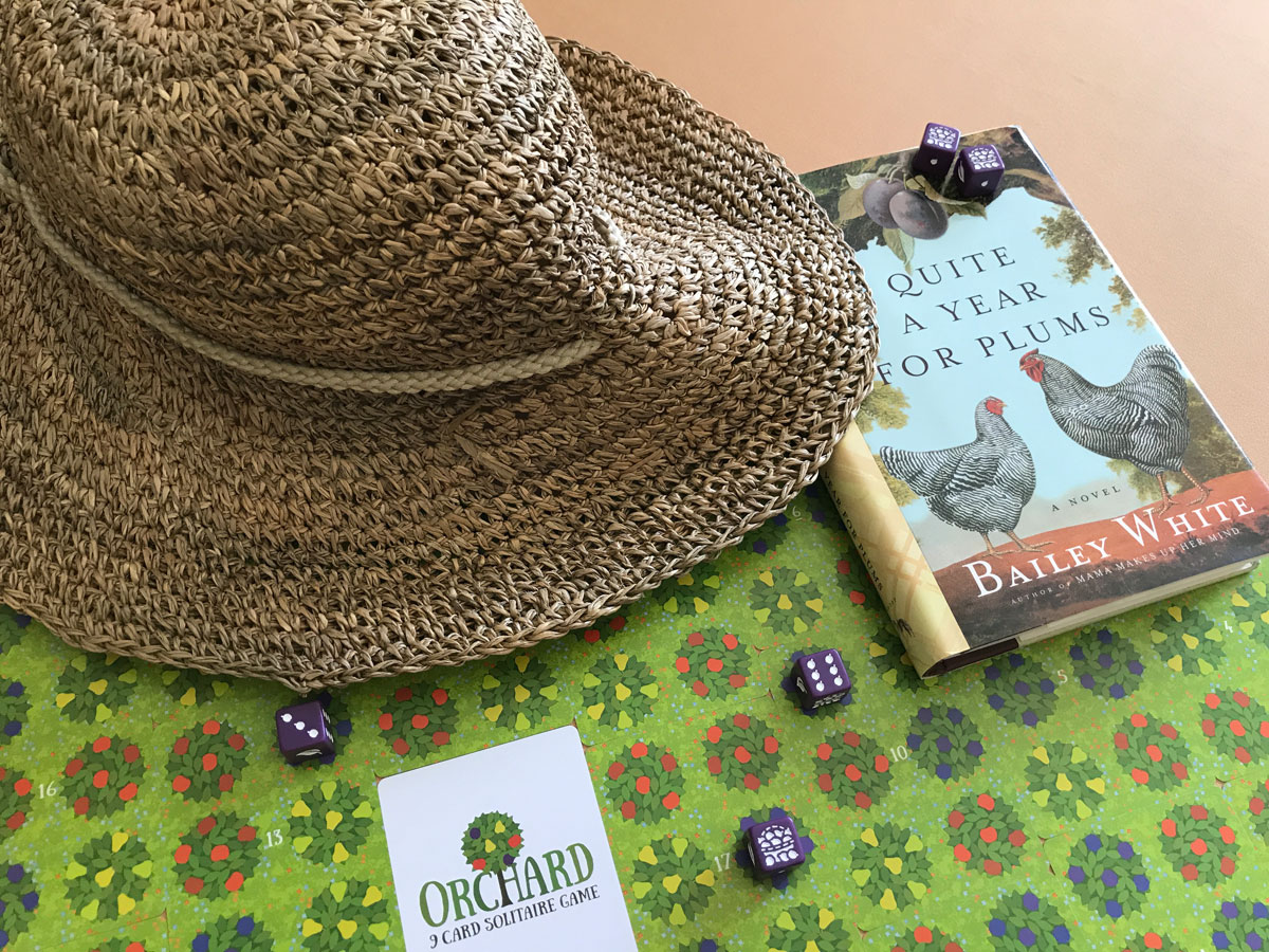 An Appropriate Accessory to Head Out to Read and Harvest in Orchard: A 9 Card Solitaire Game