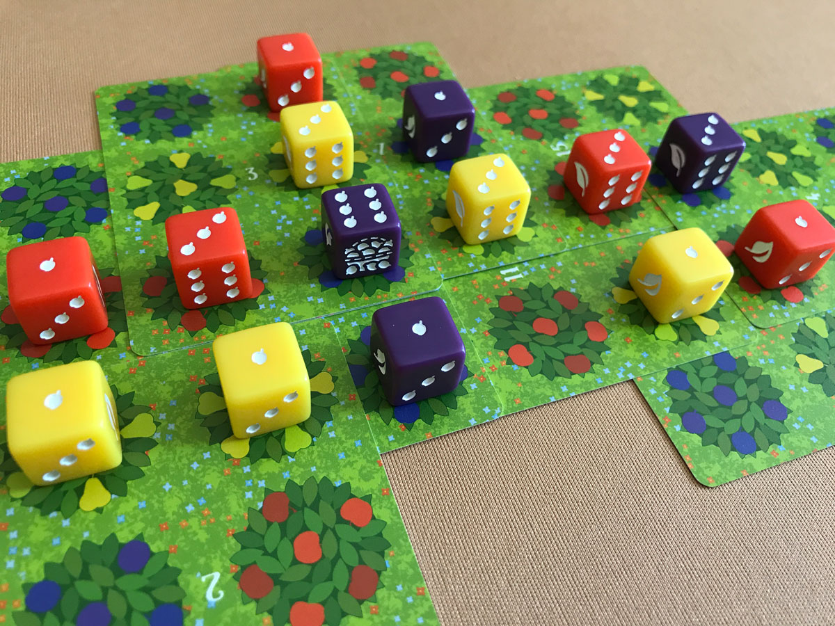 A Colorful Assortment of Fruit Trees in Orchard: A 9 Card Solitaire Game