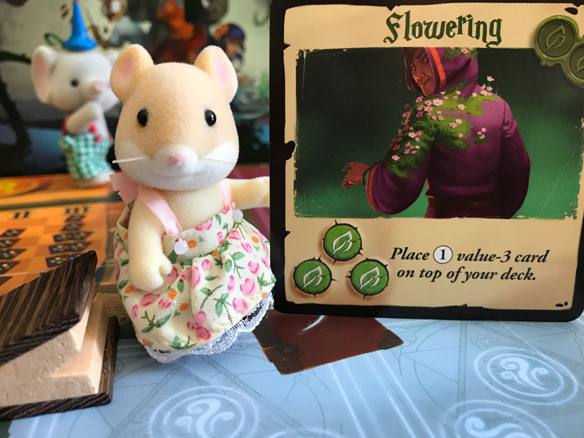 A Proper Use of the Flowering Spell with a Calico Critter and The Big Book of Madness