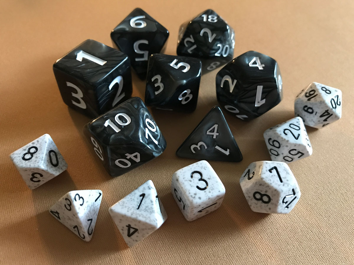 Black and White and Oh-So-Nice: The Joy of Oversized Dice