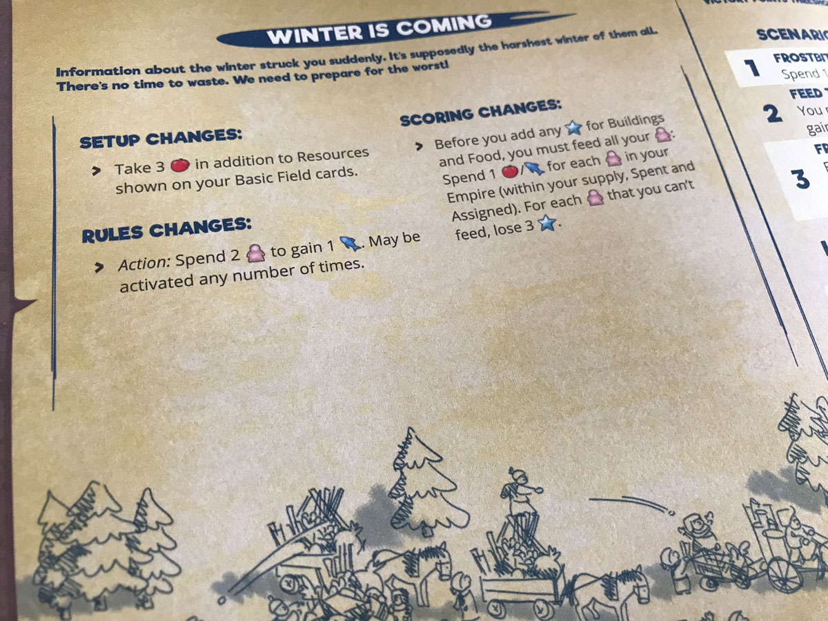 Preparing for Winter with a Solo Scenario of Imperial Settlers: Empires of the North