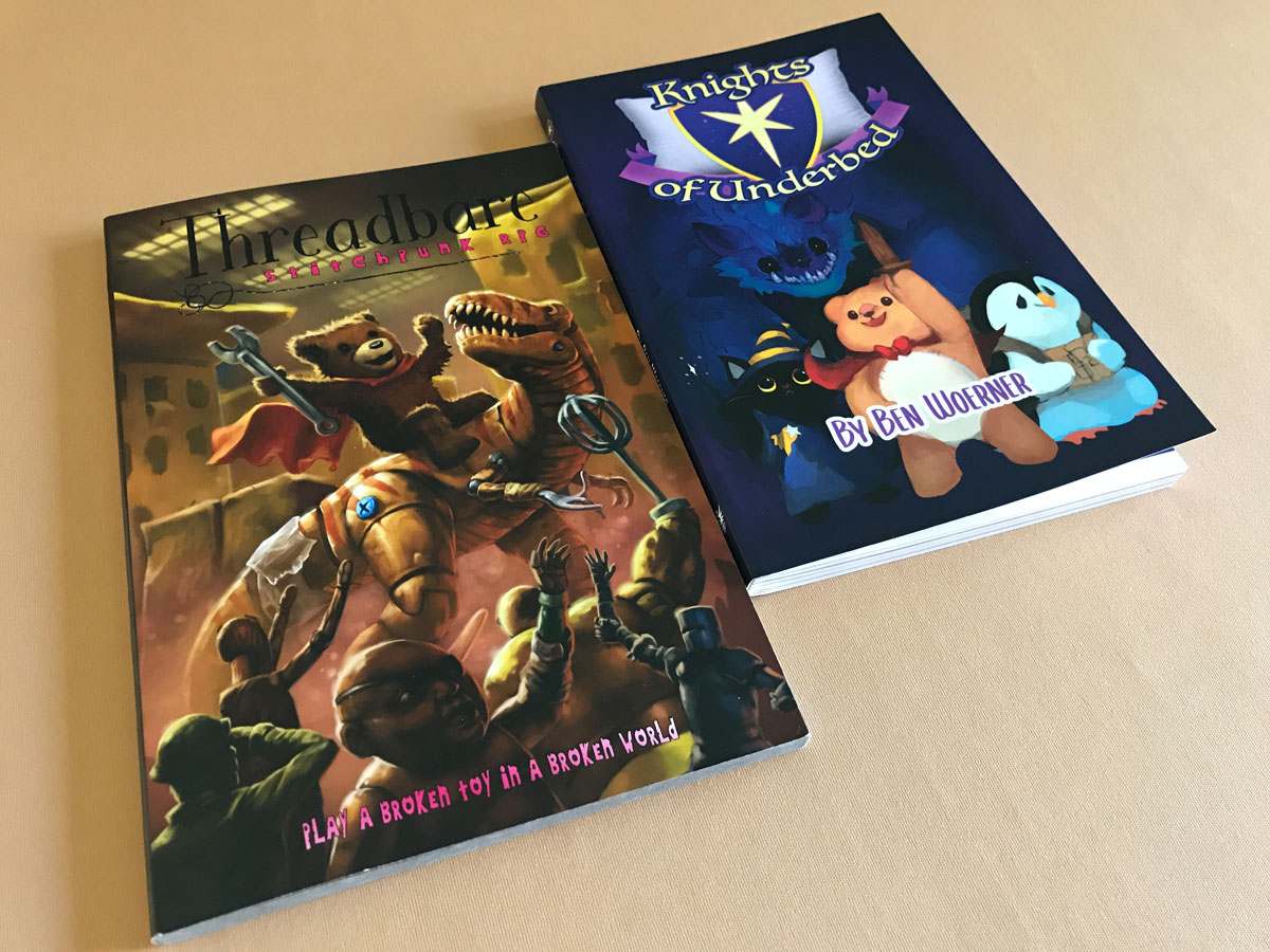 Comparing a Set of Tabletop RPGs About Toys with Knights of Underbed and Threadbare
