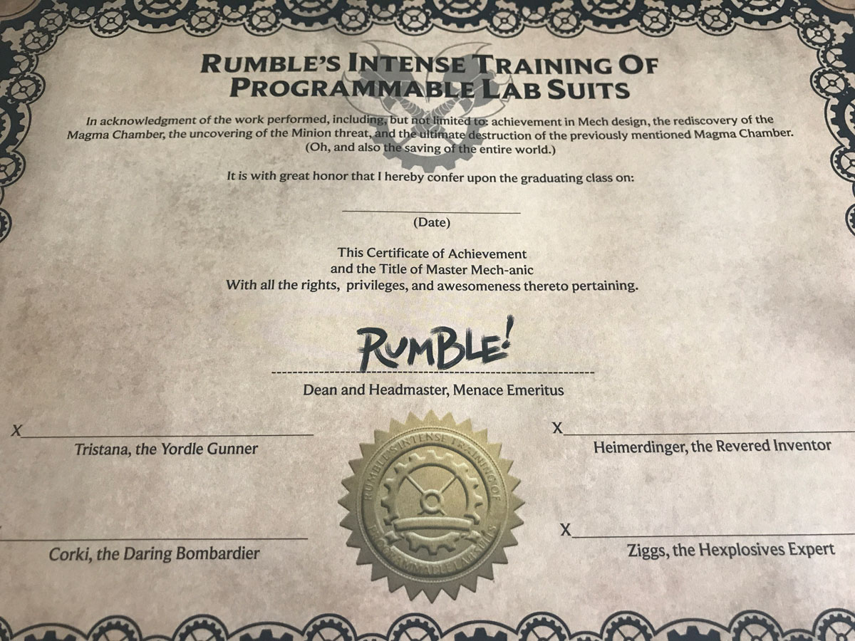 Passing the Program and Earning a Certificate in Mechs vs. Minions