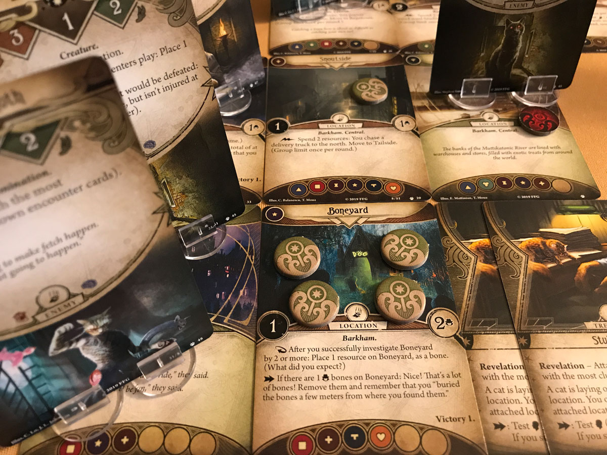 Finding Ways to Consolidate the Play Space and Make Enemies Pop Up in Arkham Horror: The Card Game
