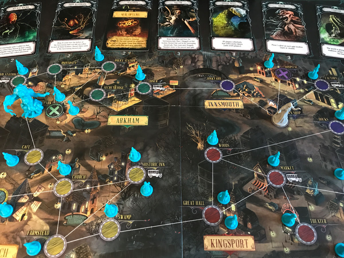 Taking a Look at the Entire World of Pandemic: Reign of Cthulhu