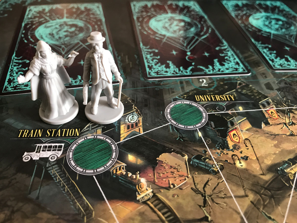 Arriving to the Terror in Arkham in Pandemic: Reign of Cthulhu