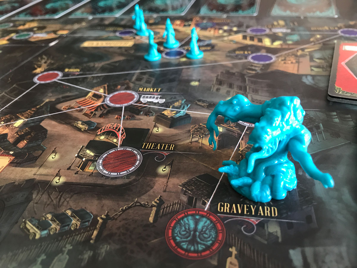Shoggoth in the Graveyard with Pandemic: Reign of Cthulhu