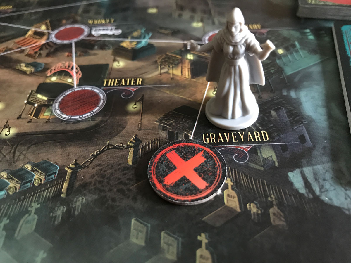 Securing the Graveyard with the Occultist in Pandemic: Reign of Cthulhu