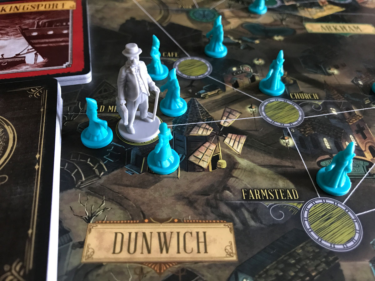 Trouble in Dunwich for the Doctor in Pandemic: Reign of Cthulhu