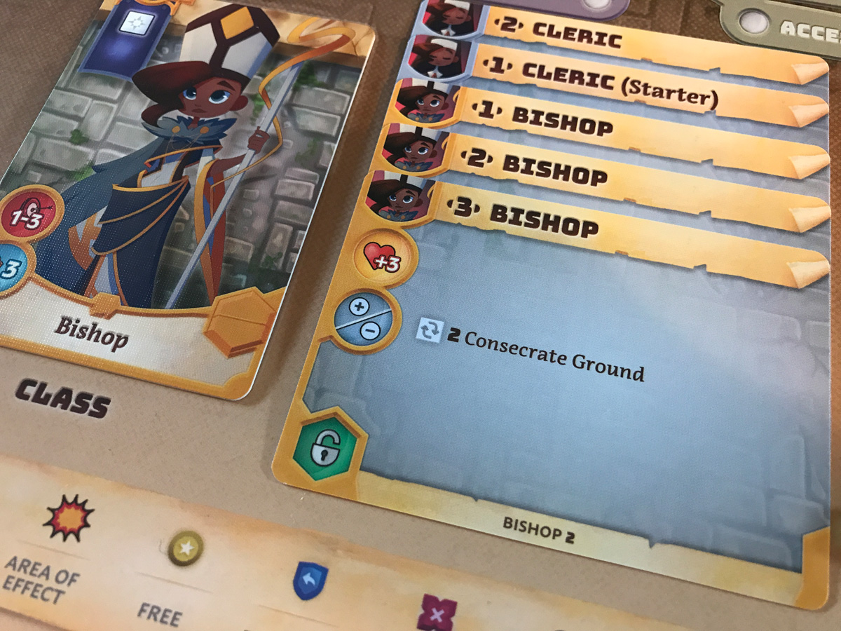 Focusing on the Bishop Elite Class with Quill in Adventure Tactics: Domianne's Tower