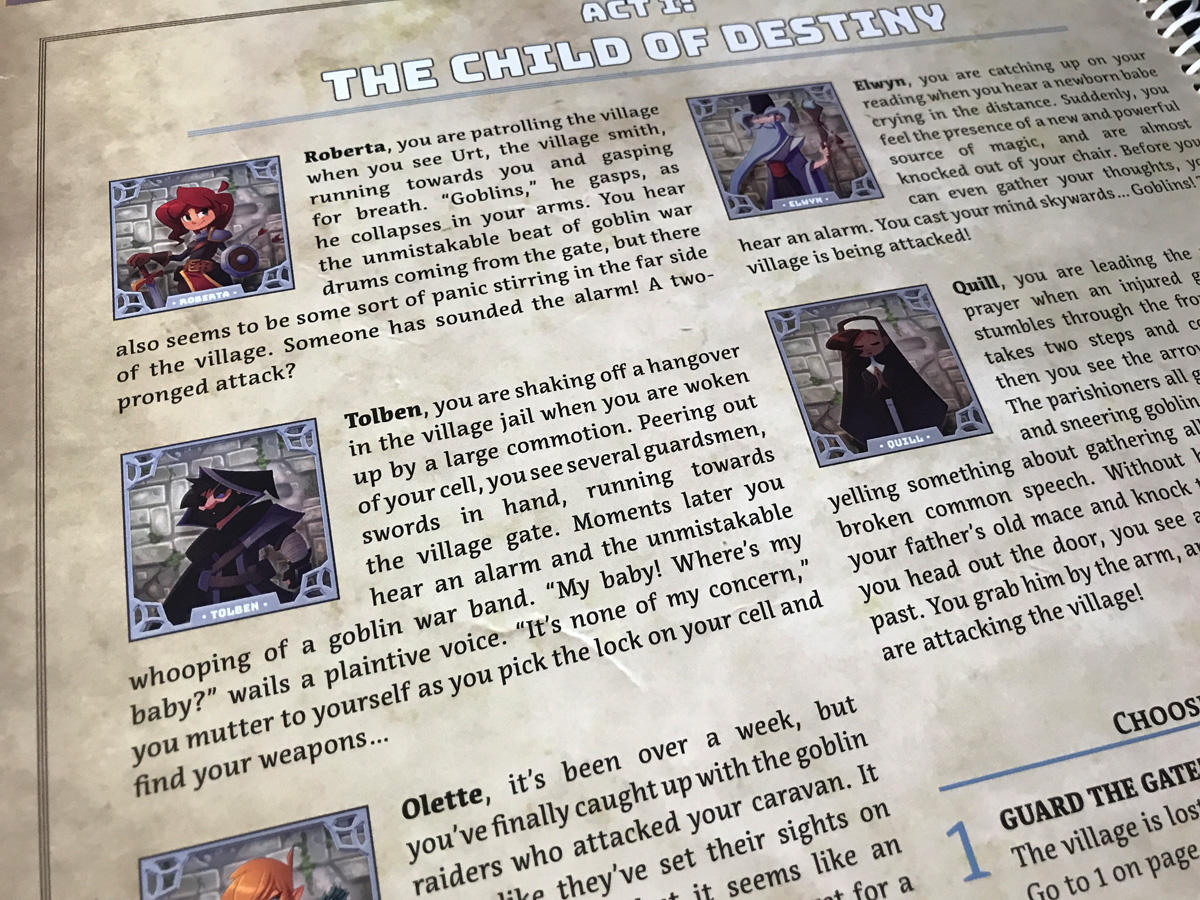 Learning About the Characters at the Start of Act 1 in Adventure Tactics: Domianne's Tower