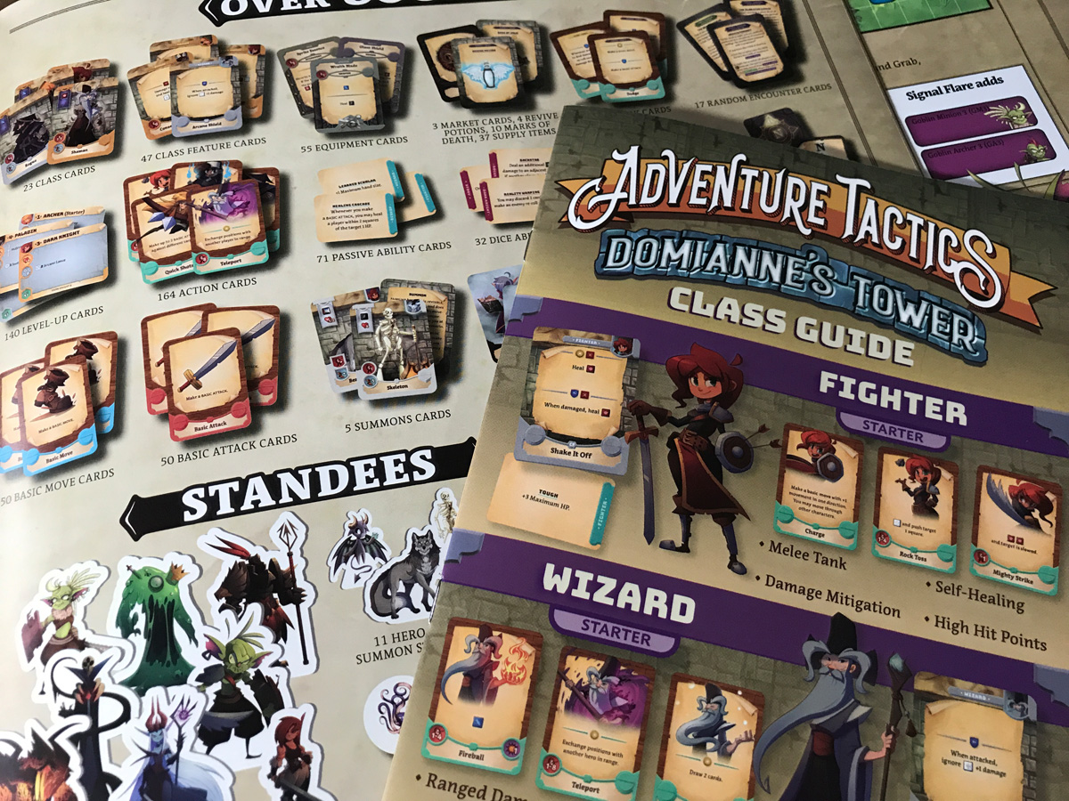 Taking a Look at the Many Included Components with Adventure Tactics: Domianne's Tower