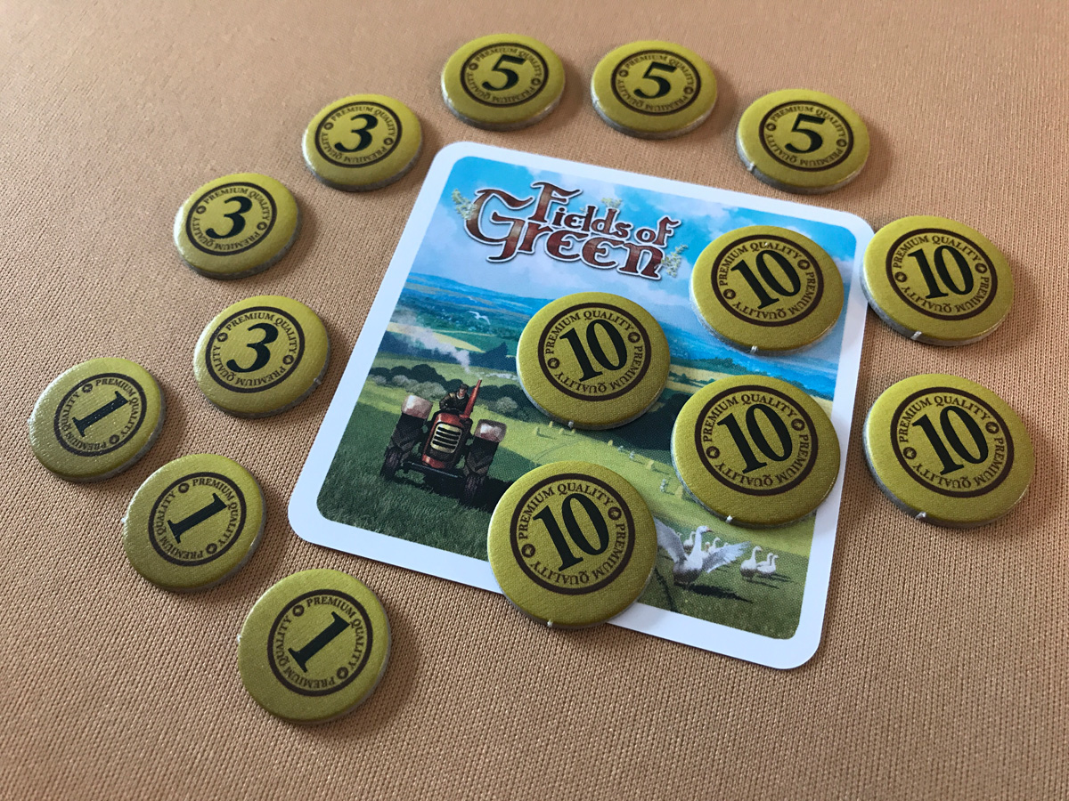 An Impressive Amount of Final Coins in Fields of Green