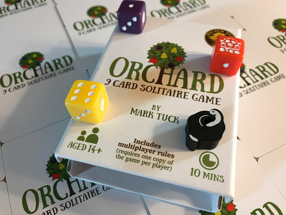 All of the Wonderful Components Included with Orchard: A 9 Card Solitaire Game