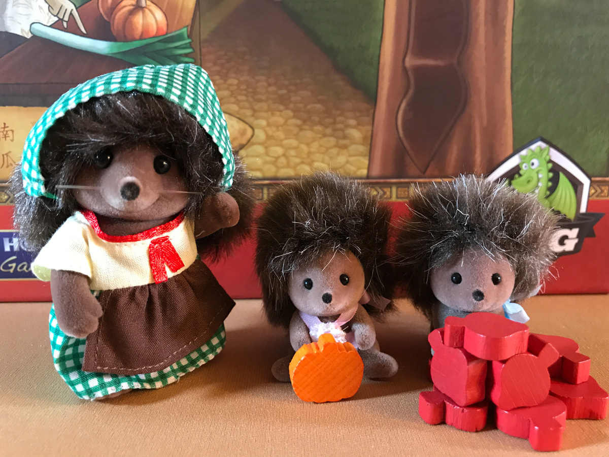Getting a Little Help with the Pumpkins and Turnips from the Calico Critters in At the Gates of Loyang