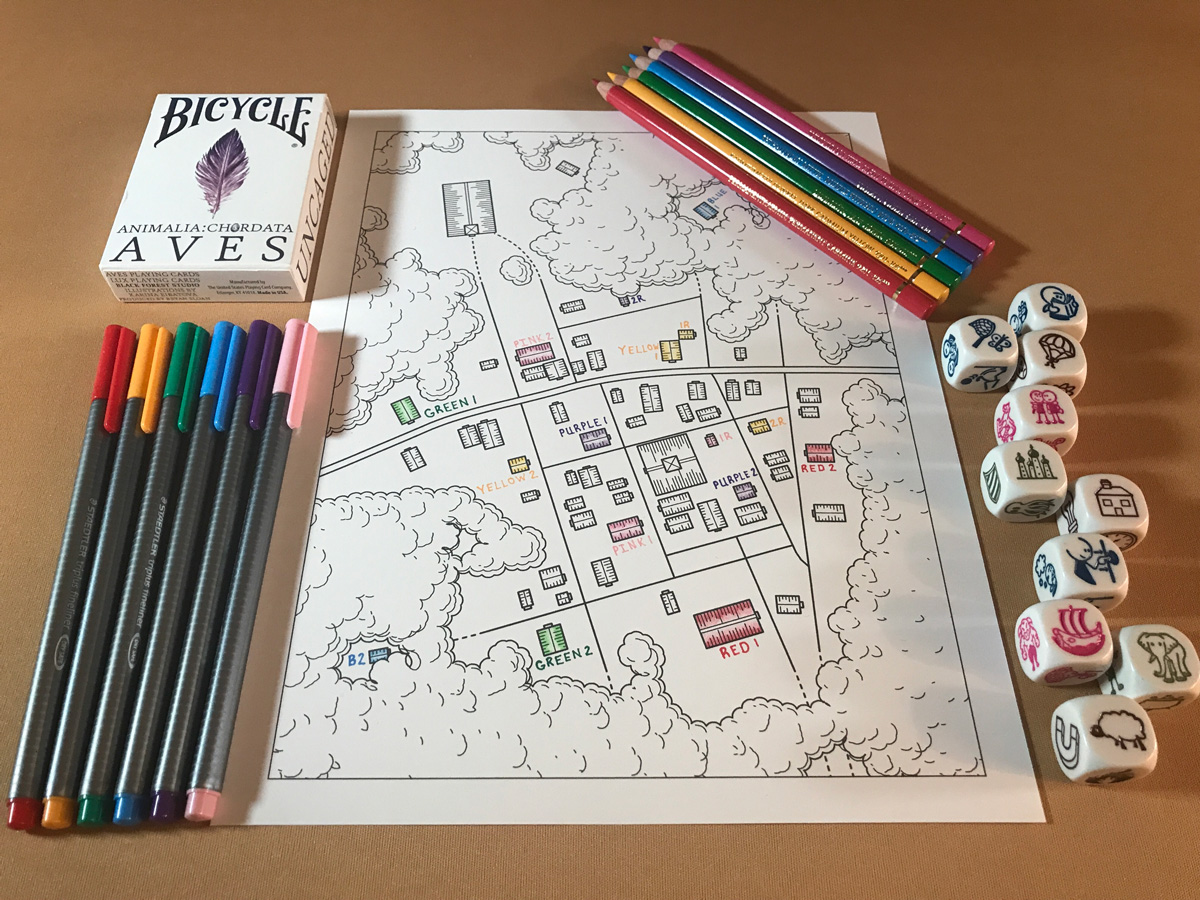 The Joy of Coloring a Map with Beak, Feather, and Bone