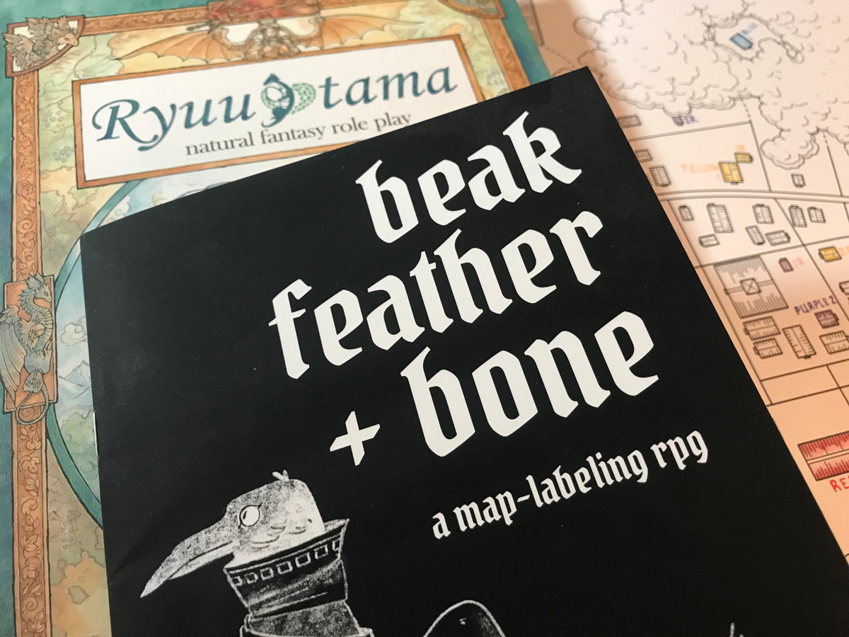 Plotting Out Ryuutama Characters from a Map with Beak, Feather, and Bone