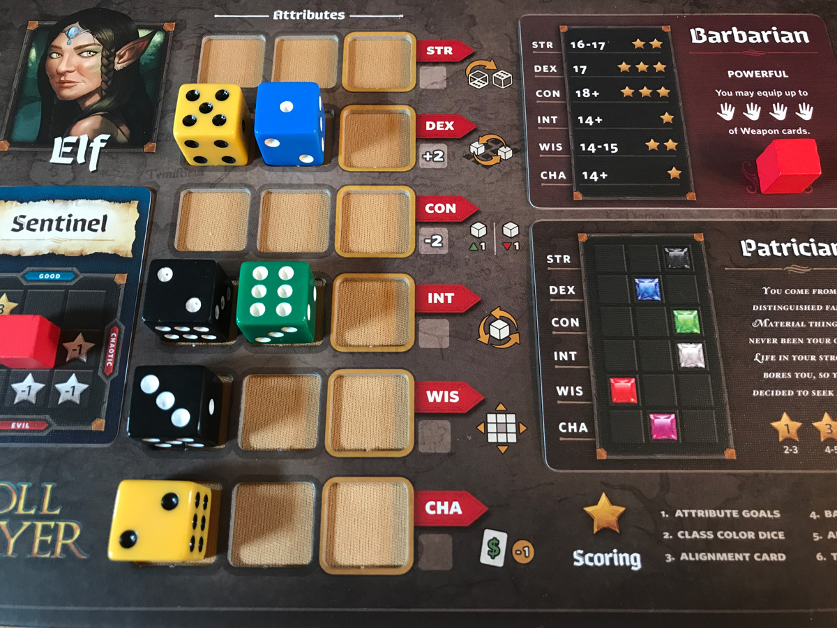 An Eclectic Starting Position for an Elf Barbarian in Roll Player