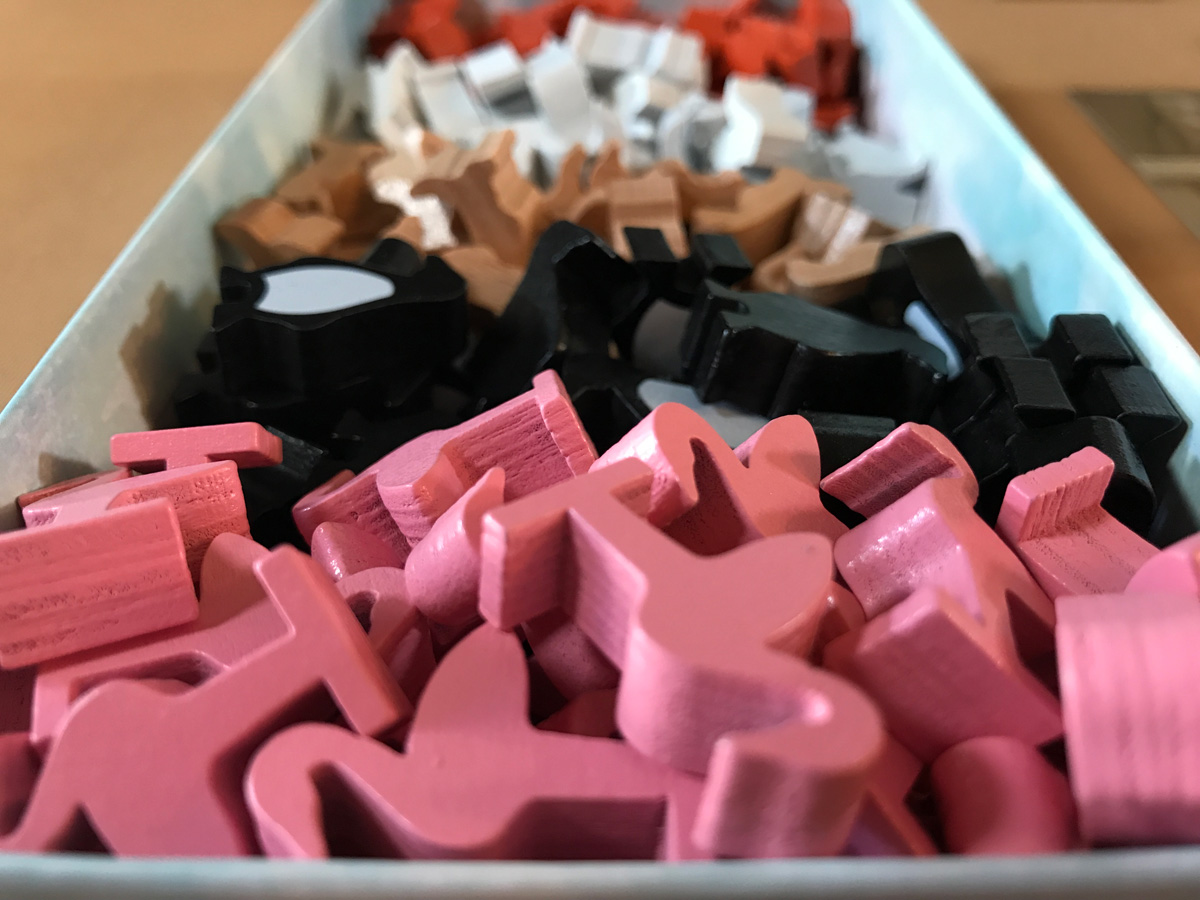 A Colorful Collection of Animal Meeples in New York Zoo